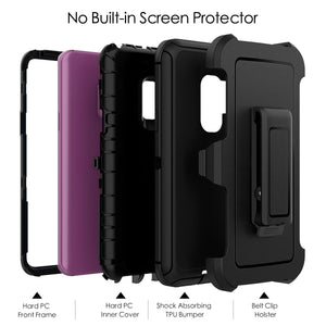 3 in 1 Hard Case For Samsung Galaxy S8 S9 Note 8 9 Cases - Actual Phone Case
