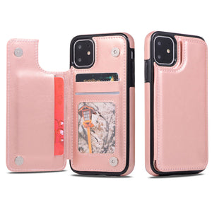 Retro PU Leather Cover For Samsung S10E S8 S9 S10 Plus Note 8 9 Back - Actual Phone Case