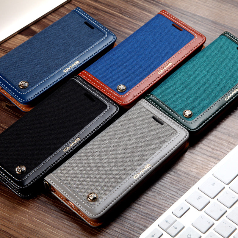 Cover For Samsung S10 Strong Magnetic Leather S8 S9 S10 Plus Note 9 8 - Actual Phone Case