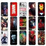 Marvel Avengers Case For iPhone  x XR XS MAX case silicone cover - Actual Phone Case