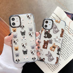Cute French Bulldog Phone Cases for iPhone  Clear Soft TPU Cover - Actual Phone Case
