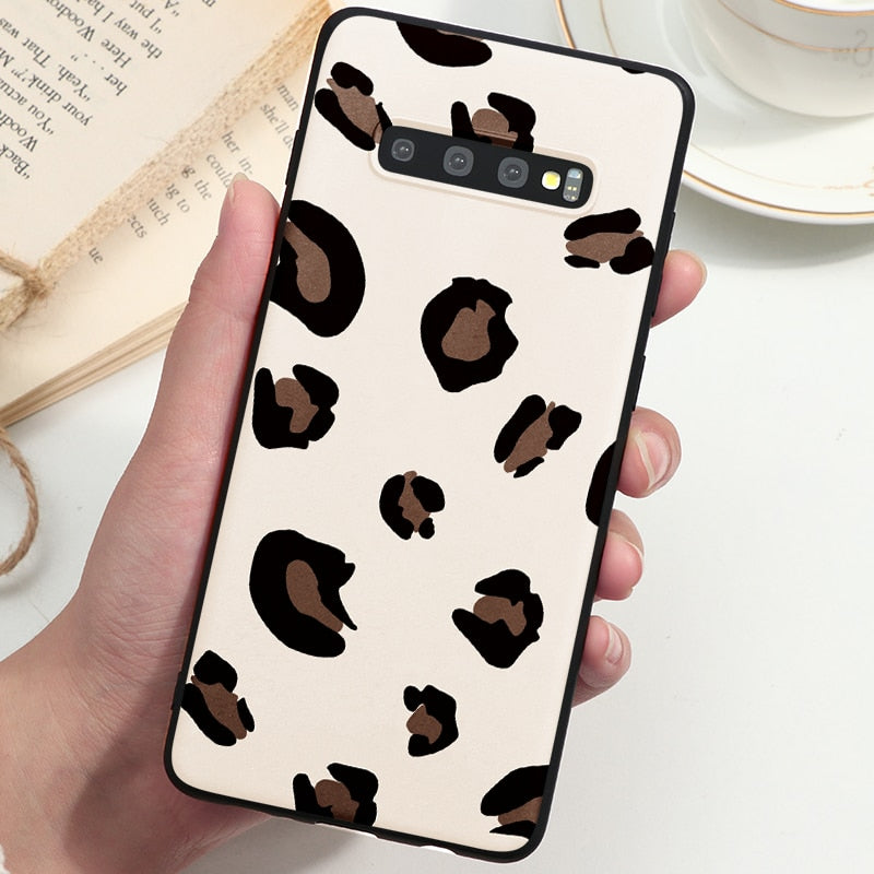 Leopard Print Case For Samsung Galaxy S10 S9 Plus Note 8 9 10 Coque - Actual Phone Case
