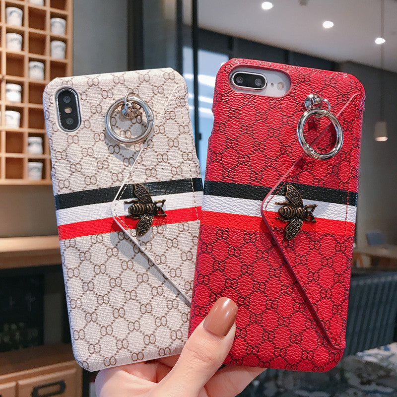Luxury Little Bee Card Case For iPhone 11 pro max 8 7 Plus X Xr XS Max - Actual Phone Case