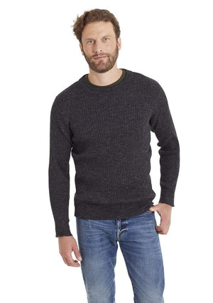 Invisible World Men's Pullover Gray / Small Apollo Ribbed Men's Alpaca Jumper