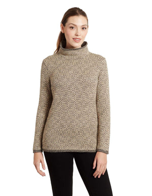 Invisible World Women's Pullover Asti Cowl Neck Alpaca Sweater for Women