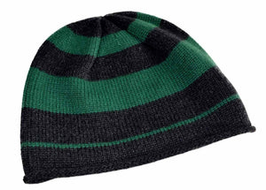 Color Band Pure Cashmere Beanie Hat