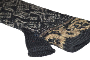 Intiwara Graffiti Women's Alpaca Hat and Fingerless Glove Set