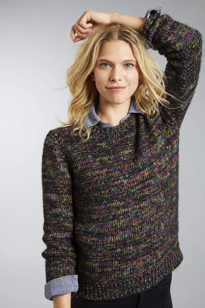 Invisible World Women's Pullover Black / Small Hand-Dyed Suri Alpaca Jumper for Women