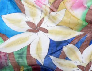 Hand Painted Silk Paj Neck Scarf - Daylilly