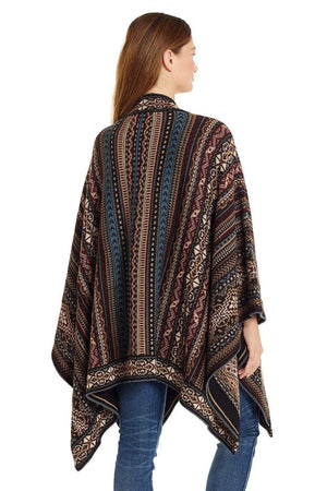 Invisible World Alpaca Poncho or Ruana Huari 100% Alpaca Wool Poncho Ruana for Women