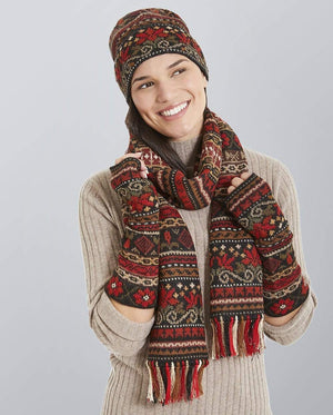 Invisible World Hat Glove Scarf Set Julia Alpaca Hat, Glove, and Scarf Set