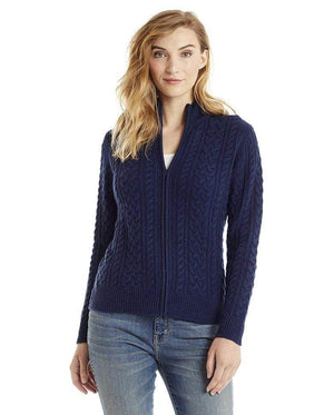 Invisible World Women's Cardigan Astral / X-Small Katy Women's Three-Ply Cable Knit Pure Cashmere Cardigan