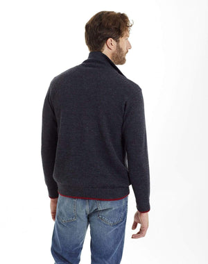 Invisible World Men's Pullover Men's Camionero Polo Neck Alpaca Jumper