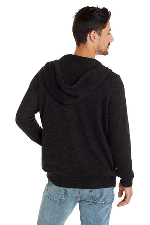 Invisible World Men's Cardigan Men's Classic Alpaca Hoodie Cardigan