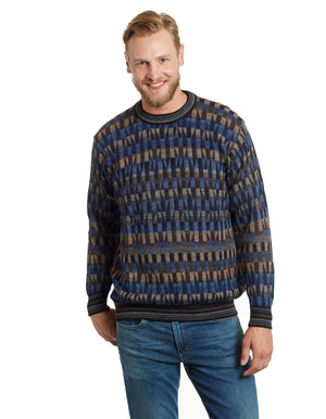 Invisible World Men's Pullover Mosaic Men's Alpaca Jumper