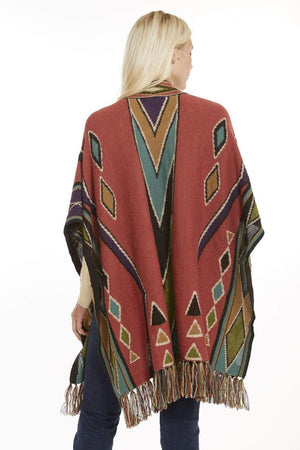 Asarti Alpaca Poncho or Ruana Puytu Alpaca Wool Poncho for Women-  Ruana with Pima Cotton