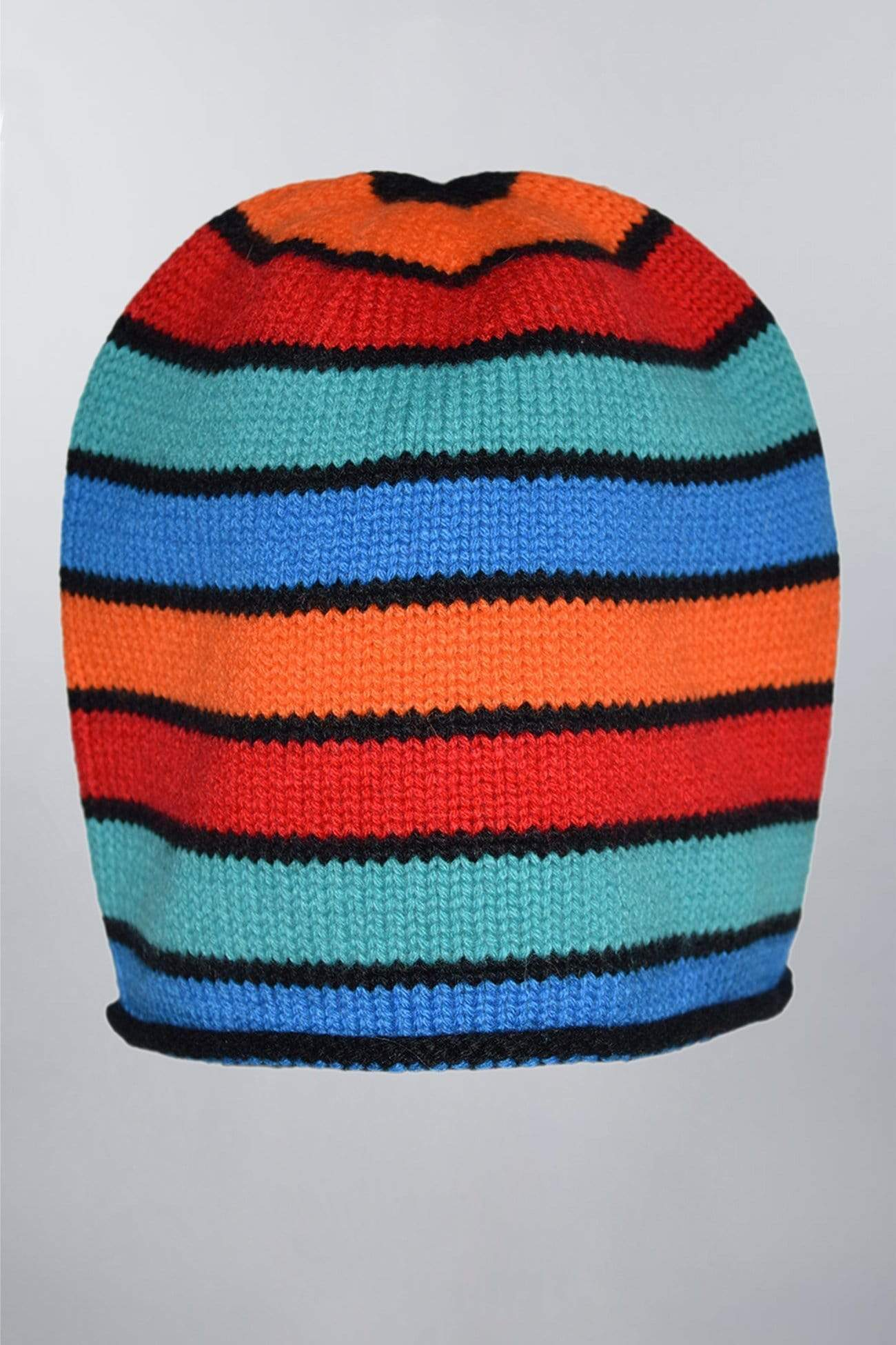 Striper Multicolor Pure Cashmere Beanie Hat