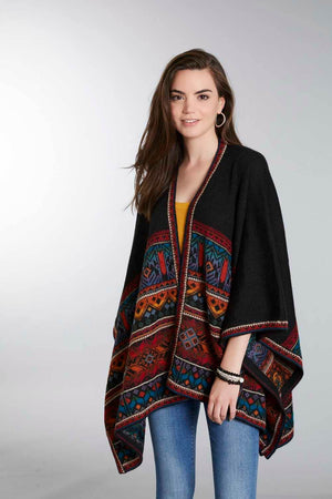 Tarabuco 100% Alpaca Wool Poncho Ruana for Women