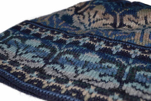 Winter Blue 100% Alpaca Wool Hat