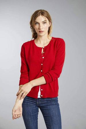 Women's Button Up Pure Cashmere Little Cardigan