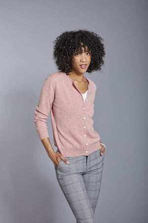 Invisible World Women's Cardigan Women's Button Up Pure Cashmere Little Cardigan