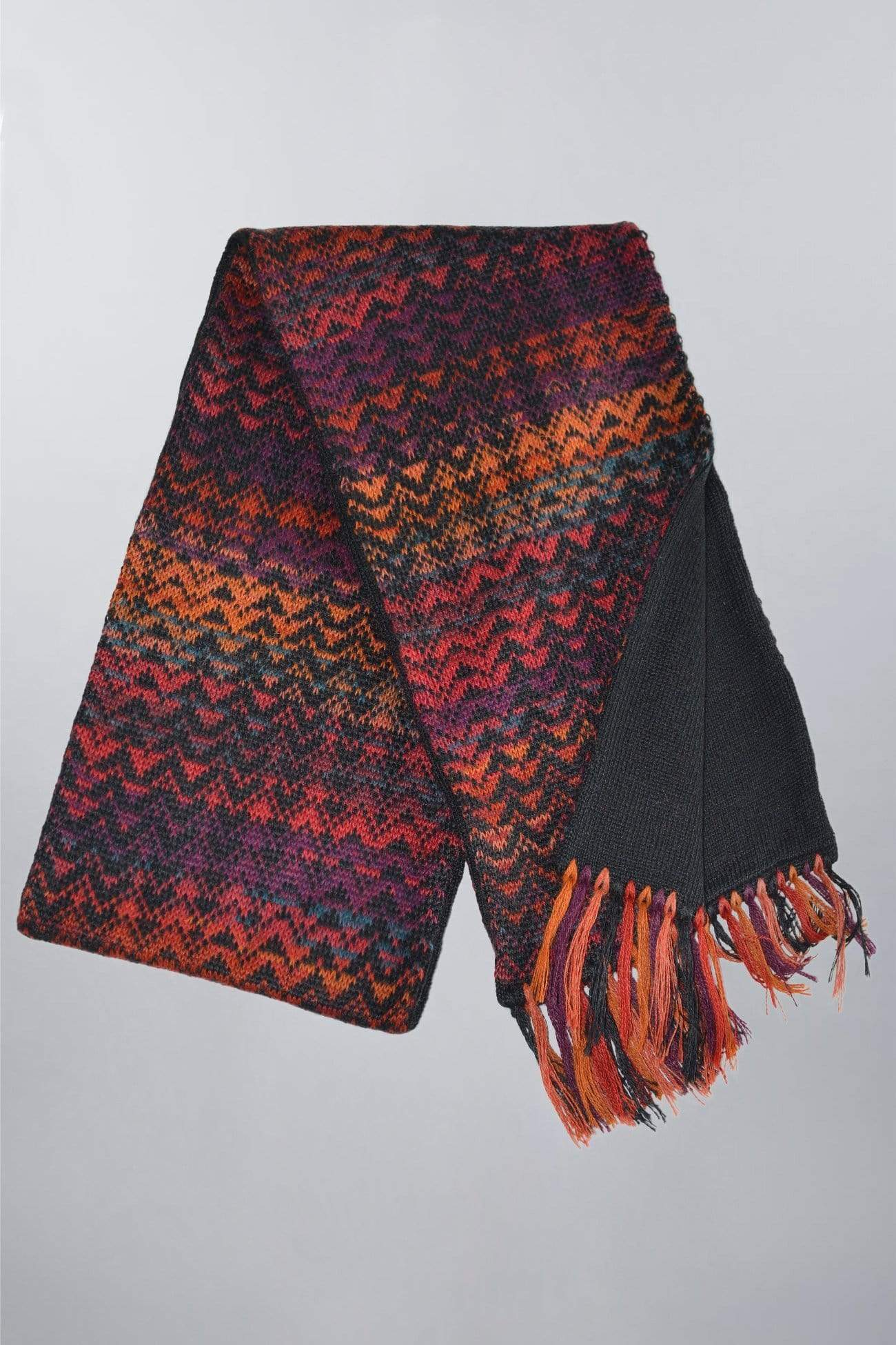 Women's Knit Alpaca Knit Scarf - Noelle Red