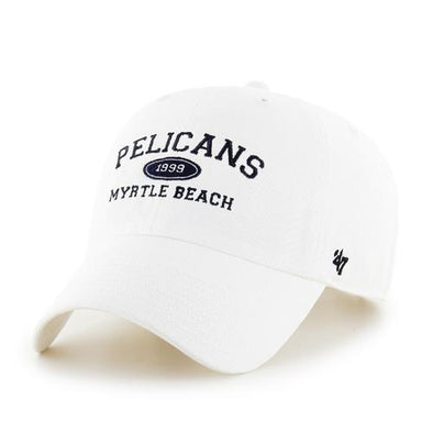 MYRTLE BEACH PELICANS 47 BRAND ESTABLISHED ARCH ADJUSTABLE CAP
