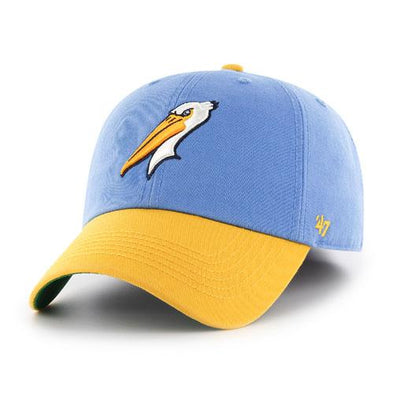 MYRTLE BEACH PELICANS 47 BRAND 2TONE ALTERNATE LOGO FRANCHISE CAP