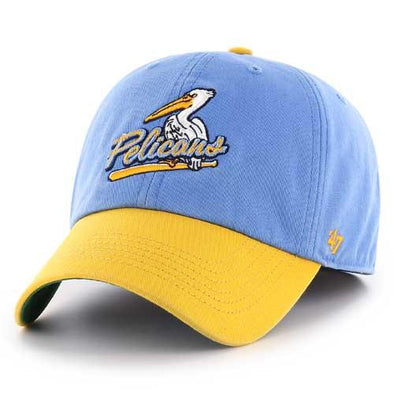 MYRTLE BEACH PELICANS 47 BRAND 2TONE ALTERNATE 2 LOGO CLEAN UP CAP