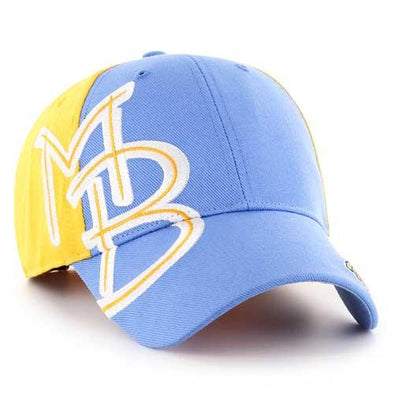 MYRTLE BEACH PELICANS 47 BRAND DAMASCUS MVP ADJUSTABLE CAP