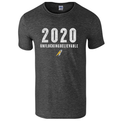 MYRTLE BEACH PELICANS DARK HEATHER 2020 UNFLOCKINGBELIEVABLE SOFTSTYLE TEE