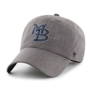MYRTLE BEACH PELICANS 47 BRAND GRAY GAME FURY CAP