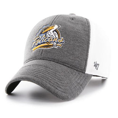 MYRTLE BEACH PELICANS 47 BRAND HASKELL PRIMARY ADJUSTABLE CAP