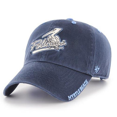 Myrtle Beach Pelicans 47 BRAND NAVY ICE ADJUSTABLE CAP