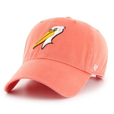 MYRTLE BEACH PELICANS 47 BRAND LADIES GRAPEFRUIT ALT CLEANUP CAP