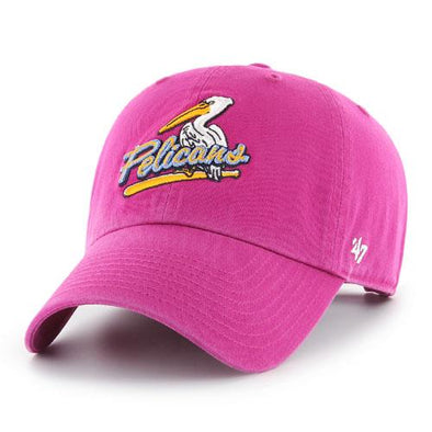Myrtle Beach Pelicans 47 BRAND LADIES ORCHID BIRDBAT CLEAN UP CAP