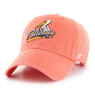 MYRTLE BEACH PELICANS 47 BRAND LADIES GRAPEFRUIT BIRDBAT CLEANUP CAP