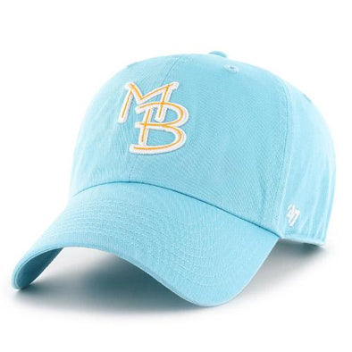 MYRTLE BEACH PELICANS 47 BRAND LADIES CARIBBEAN BLUE GM CLEAN UP
