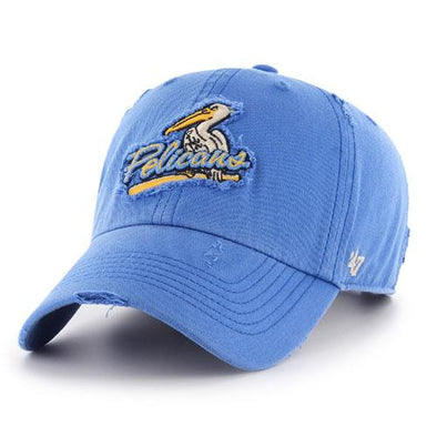 MYRTLE BEACH PELICANS 47 BRAND BLUE RAZ MILLWOOD ADJUSTABLE CAP