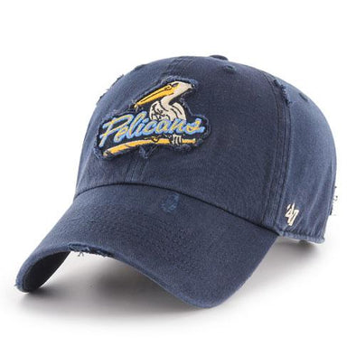 Myrtle Beach Pelicans 47 BRAND NAVY MILLWOOD ADJUSTABLE CAP