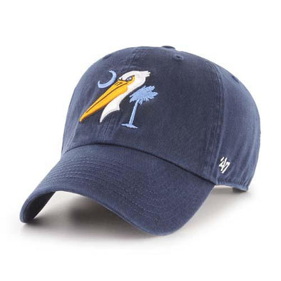 Myrtle Beach Pelicans 47 BRAND NAVY ALT FLAG CLEAN UP