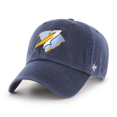 Myrtle Beach Pelicans 47 BRAND NAVY ALT SC CLEAN UP