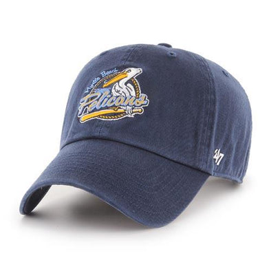 Myrtle Beach Pelicans 47 BRAND NAVY PRIMARY CLEAN UP