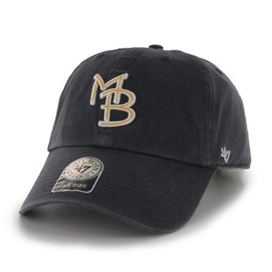 Myrtle Beach Pelicans 47 BRAND NAVY GAME CLEAN UP CAP