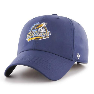 Myrtle Beach Pelicans 47 BRAND NAVY REPETITION PRIMARY ADJUSTABLE CAP