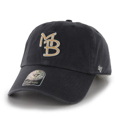 Myrtle Beach Pelicans 47 BRAND YOUTH NAVY GAME CLEAN UP CAP