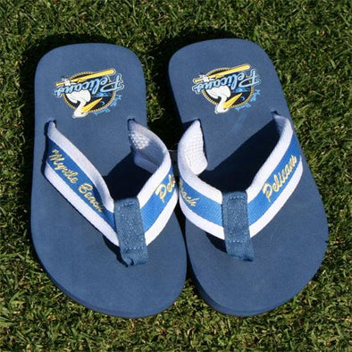 Myrtle Beach Pelicans FOR BARE FEET FLIP FLOPS
