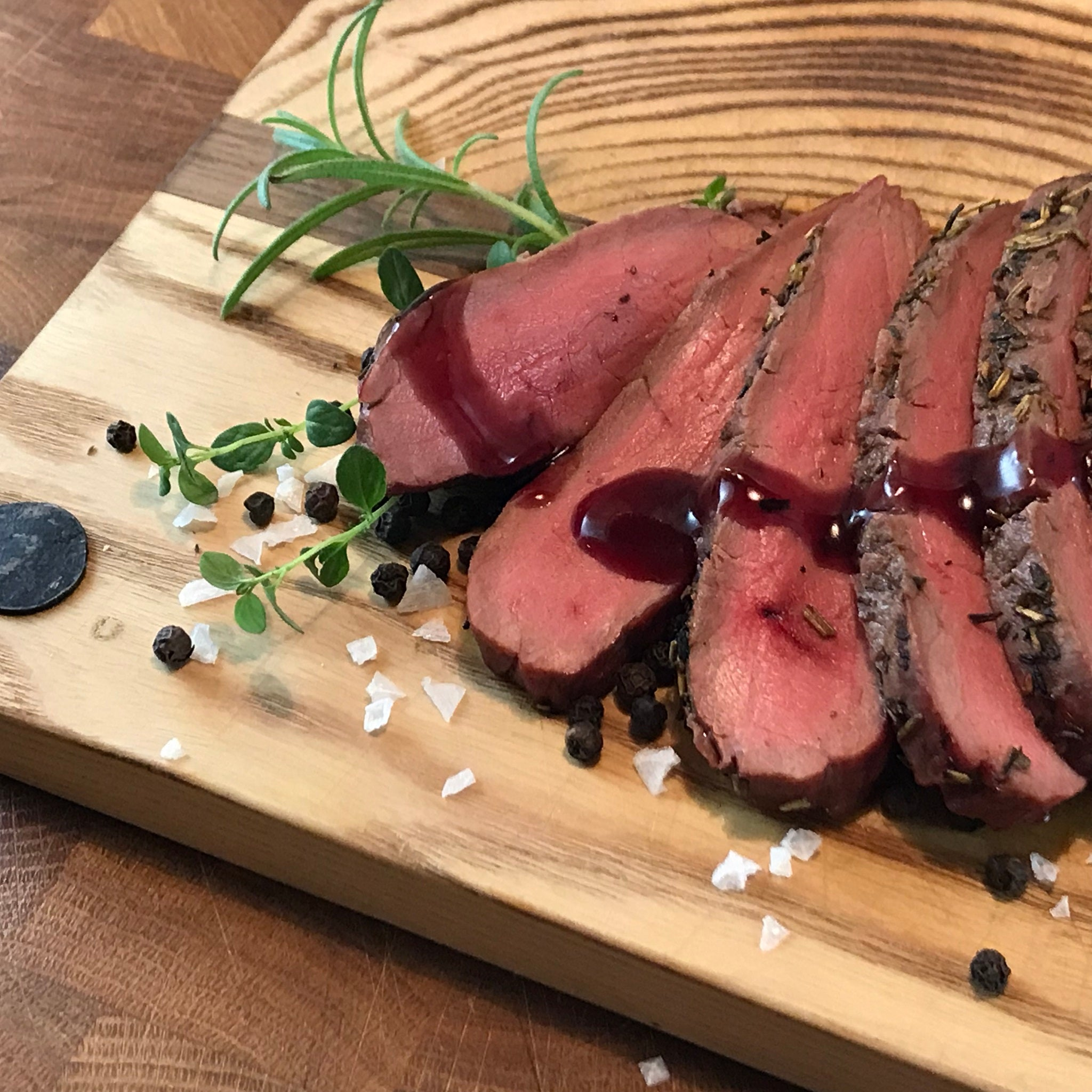 Moose sirloin grilled