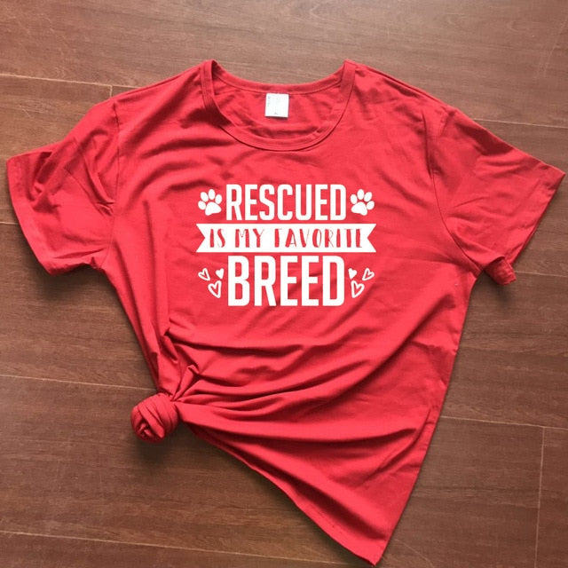 Rescued Is My favorite Breed Adopt-Don't Shop Casualx T-Shirt