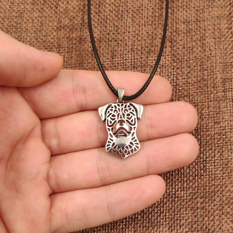 Retro Antique Silver Fashion Dog Pendant - Many Breeds Available!